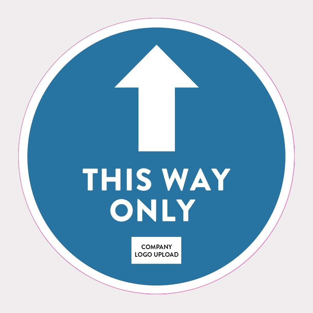 COVID-19 Floor Sticker Safety Signs - This Way Only