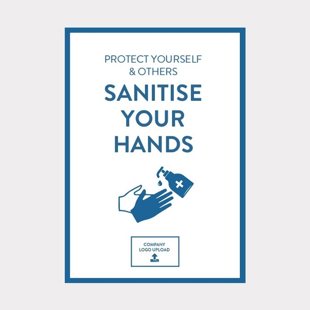 COVID-19 Vinyl Sticker Hand Hygiene Safety Sign