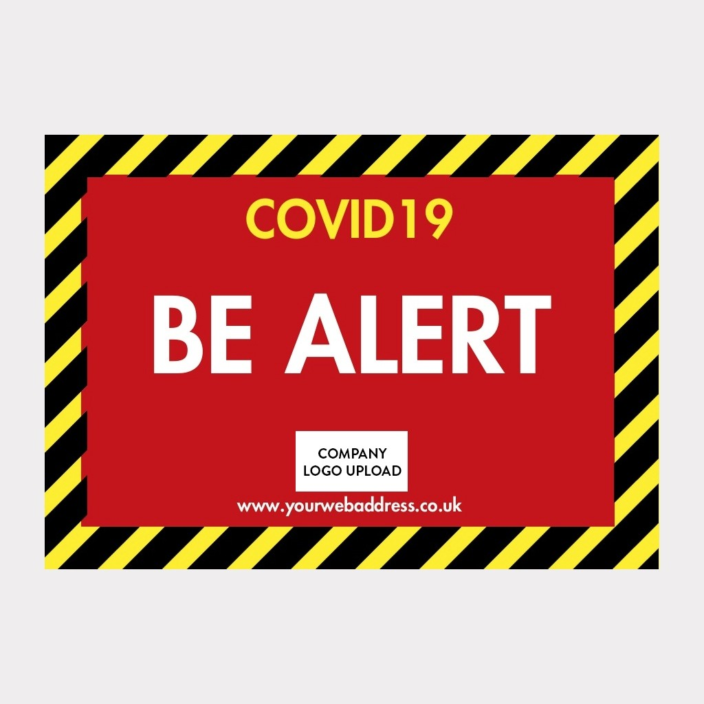 COVID-19 Floor Sticker Safety Signs - Design Your Own