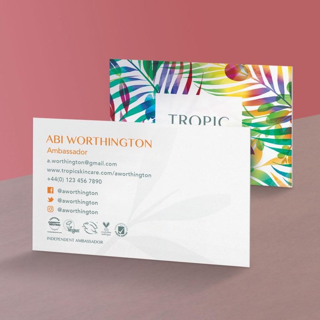 Upload A Design - Laminated Business Cards
