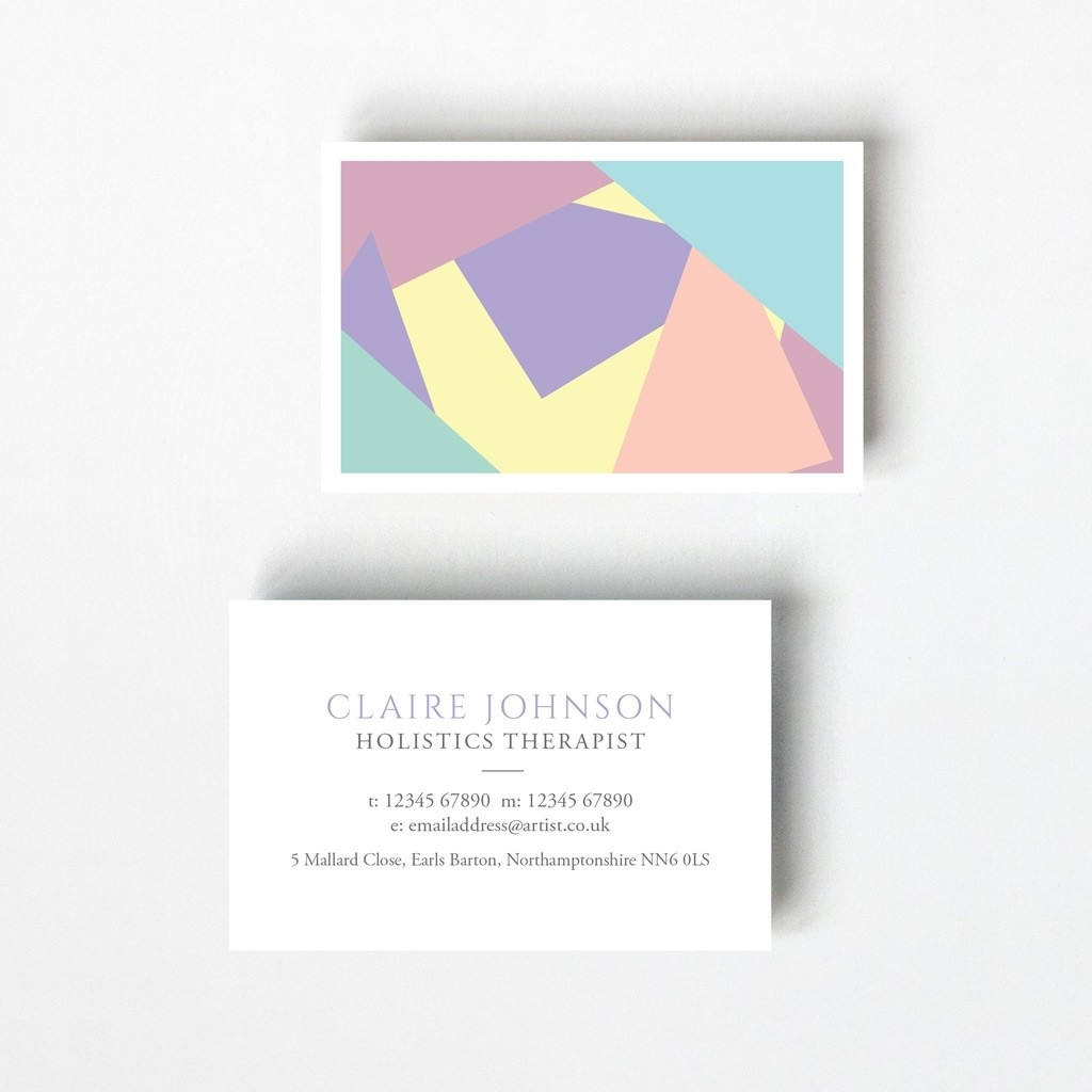 Pastel Design Business Card