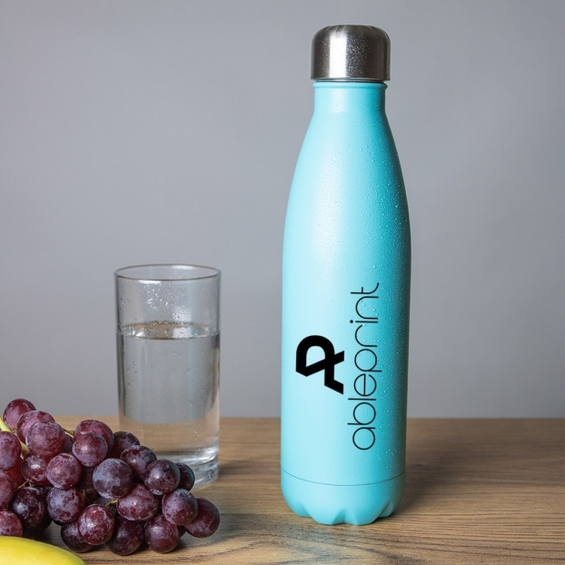 Personalised Stainless Steel Insulated Water Bottle - Light Blue