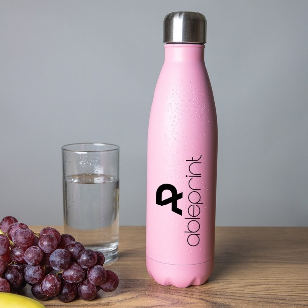 Personalised Stainless Steel Insulated Water Bottle - Light Pink