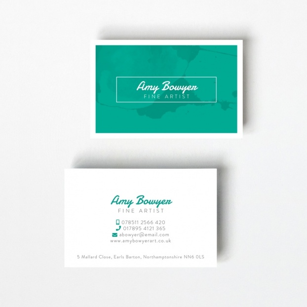 Contemporary Marble Business Card