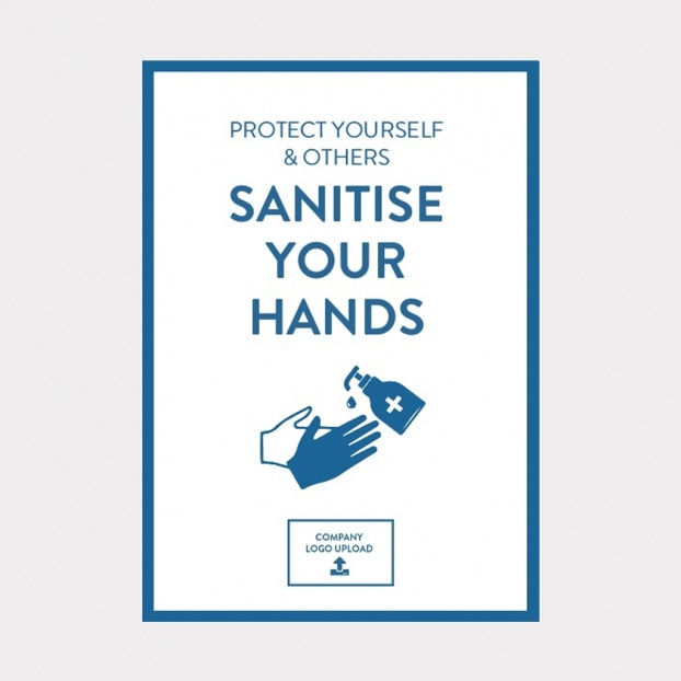 COVID-19 Vinyl Sticker Hand Hygiene Safety Sign