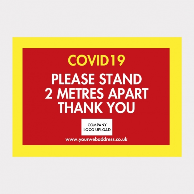 COVID-19 Laminated Safety Signs - Design Your Own