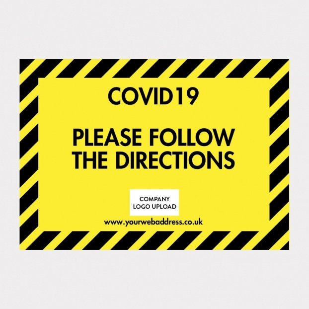 COVID-19 Foamex Safety Signs - Design Your Own