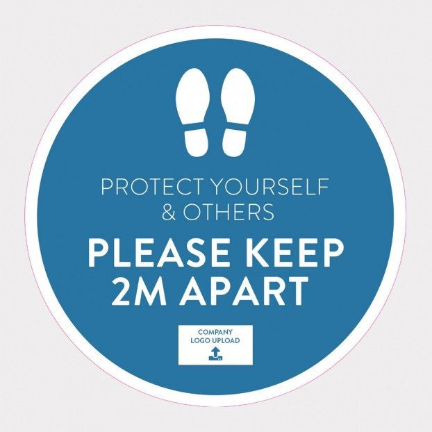 COVID-19 Floor Sticker Safety Signs - Keep Your Distance