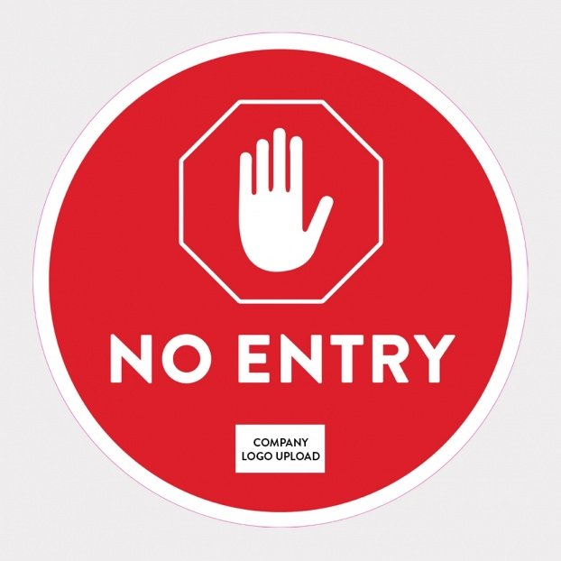 COVID-19 Floor Sticker Safety Signs - No Entry