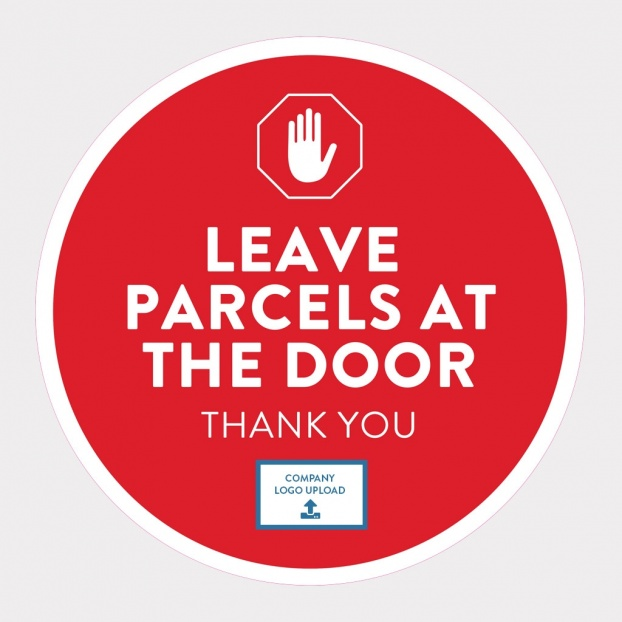COVID-19 Vinyl Sticker Safety Signs - Leave Parcels