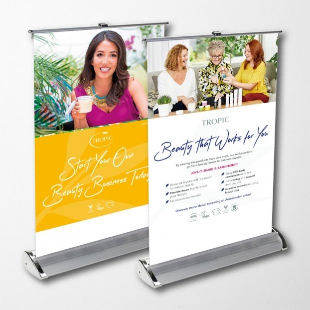 Upload A Design - Pull-Up Banner A3 (297mm x 420mm)